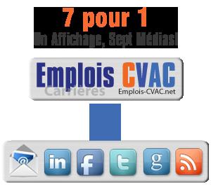 Emplois CVAC Multi-Plateformes 7 pour 1